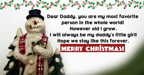 16342 christmas messages for dad