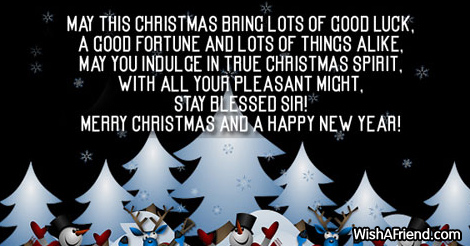 May this Christmas bring lots of, Christmas Message For Boss