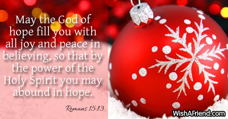 Christmas Quotes Bible.May The God Of Hope Fill Biblical Christmas Quote
