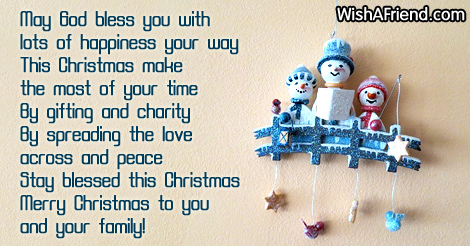 May God bless you with lots, Christmas Blessings