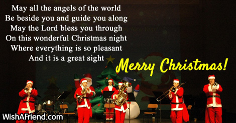 May all the angels of the, Christmas Blessings
