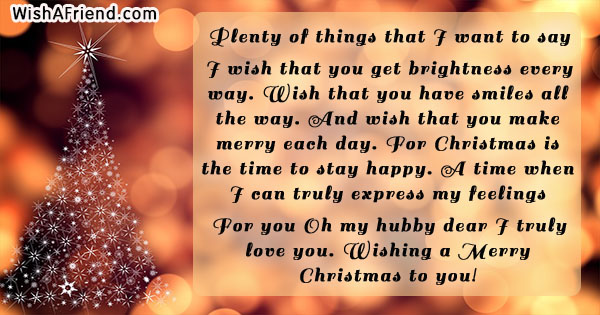18809 christmas messages for husband