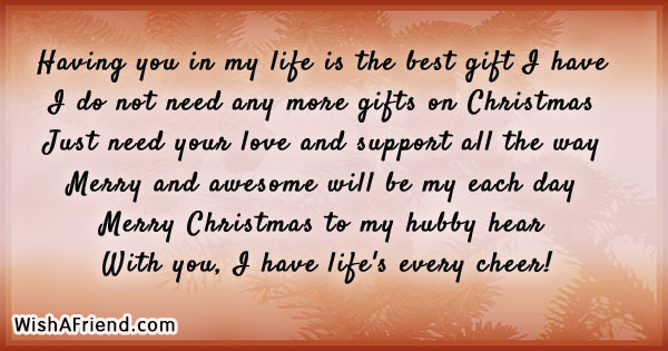 Christmas messages for husband m4hsunfo