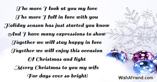 The more i look at you christmas message for wife 18825 christmas messages for wife m4hsunfo