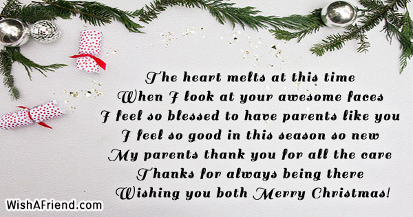 christmas messages for parents