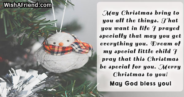 May Christmas bring to you all, Christmas Message for Kids