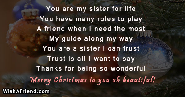 22577 christmas messages for sister