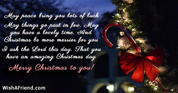 May peace bring you lots of, Inspirational Christmas Quote