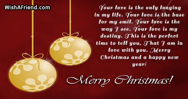 Xmas love messages to my girlfriend