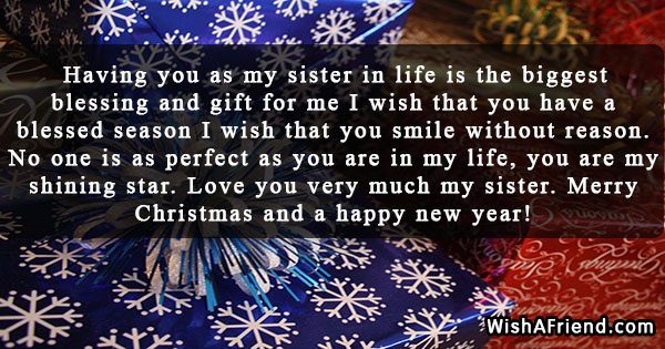 23176 christmas messages for sister