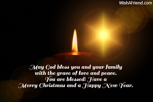 May God Bless You And Your Christmas Card Message