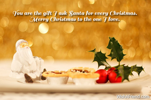 christmas wishes for lover