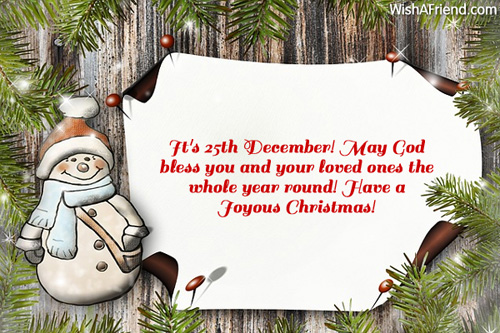 It's 25th December! May God bless, Funny Christmas Message