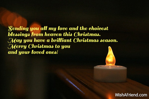 Sending You All My Love And Christmas Wish