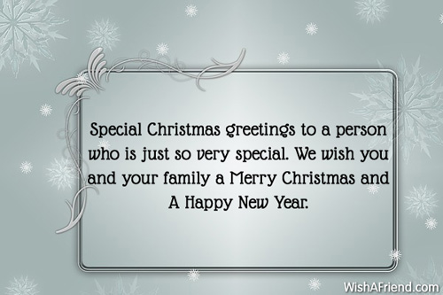 christmas wishes for a special person