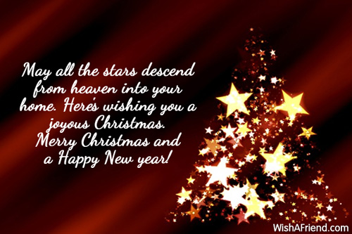 May All The Stars Descend From, Funny Christmas Saying