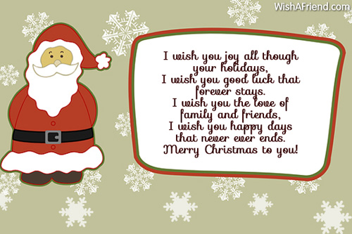 Short christmas poems my christmas wishes for you m4hsunfo