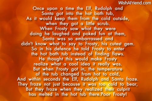 Funny Christmas Poems.Once Upon A Time Funny Christmas Poem