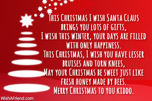Christmas Poem.Christmas Wishes For You Christmas Poem For Children