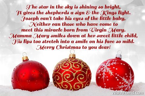 6313 christian christmas poems