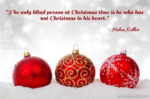 Christmas Eve Quotes.The Only Blind Person At Christmas Famous Christmas Quote