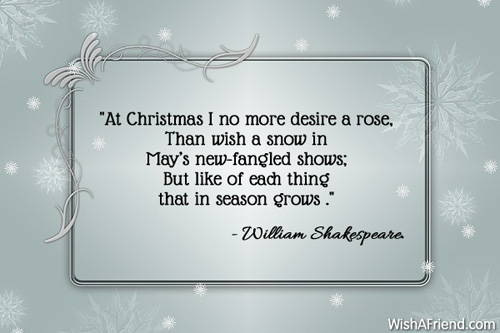 At Christmas I No More Desire Famous Christmas Quote