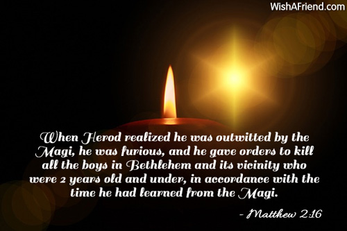 When Herod realized he was outwitted, Religious Christmas Quote