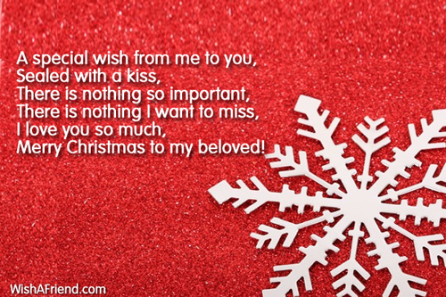 A special wish from me to christmas message for girlfriend 7163 christmas messages for girlfriend m4hsunfo