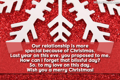 Our relationship is more special because, Christmas Message for ...