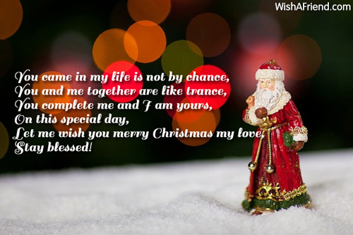 You came in my life is christmas message for boyfriend christmas m4hsunfo