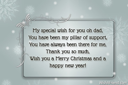 christmas messages for dad - Merry Christmas Dad
