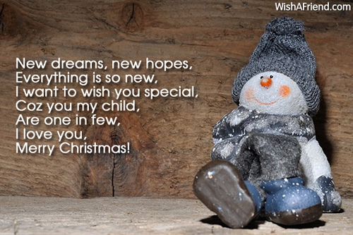 New dreams, new hopes, Everything is, Christmas Message for Kids