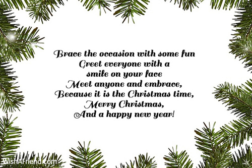 Brace the occasion with some fun Greet, Merry Christmas Message