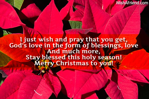I just wish and pray that, Religious Christmas Saying