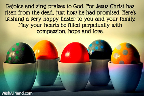 Easter messages m4hsunfo