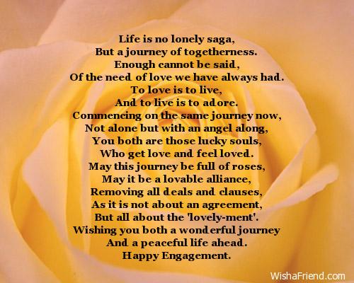 engagement card messages