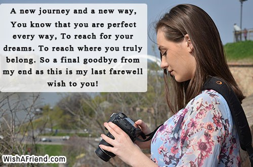 my last farewell message