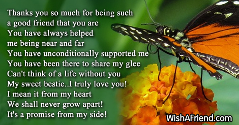 thank you for always being there poem for best friends