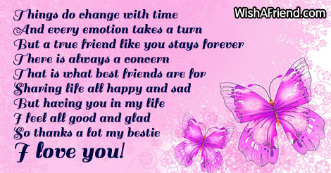 it can change with time poem for best friends