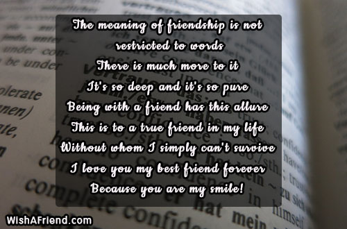 The Meaning Of Friendship Is Not, Best Friend Quote