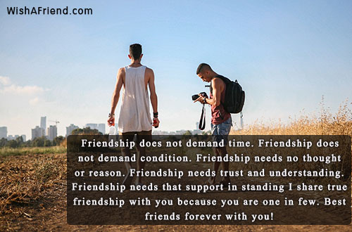 friendship does not demand time friendship best friend quote