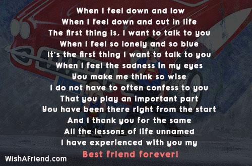 friends poems down feel low poem friendship want wishafriend