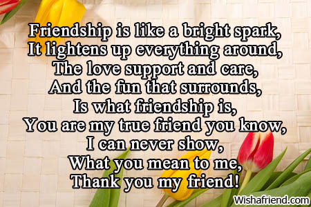Friendship is a spark , Poem For Friends