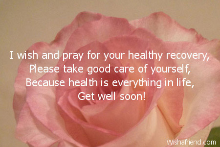 Wish you good recovery