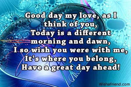Have a nice day message to my love