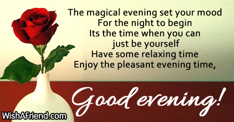 Image result for wonderful evening greetings