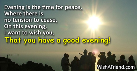 Evening is the time for peace good evening message good evening messages m4hsunfo