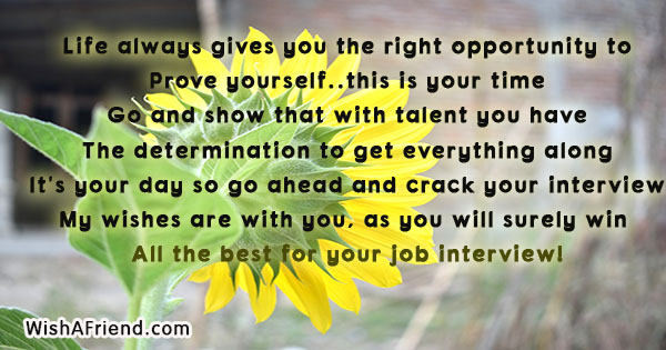 How To Have Good Luck good luck for new job interview