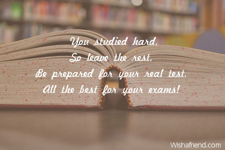 4037 good luck for exams
