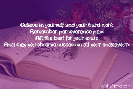 Wishes Exams Success